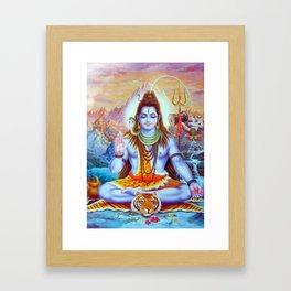 Lord Shiva Hindu Religion God Orient Spiritual Yoga Meditation Framed Art Print