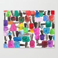 nail polish Canvas Prints featuring Nail Polish by KahriAnne Kerr