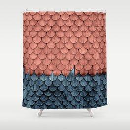 SHELTER / Little Boy Blue / Blooming Dahlia Shower Curtain