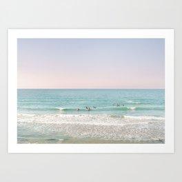 Surfing Tel Aviv No. 1  Art Print