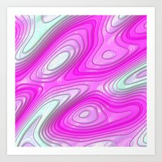 glossy 3D abstract 03 Art Print