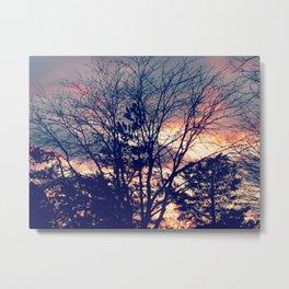 Winter Sky on fire Metal Print
