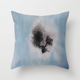 Ink Droppings Throw Pillow