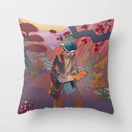 Ukiyo-e tale: The curse Throw Pillow