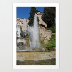 Tivoli Fountain Art Print