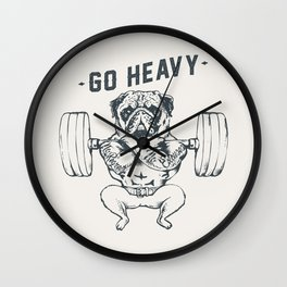 GO HEAVY Wall Clock