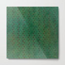 """Porstroke, Teal Shade Pattern & Red polka dots"" Metal Print"
