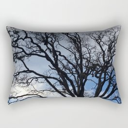 Twisted in the wind tree Rectangular Pillow