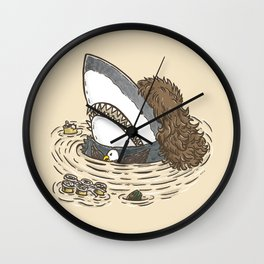 The Mullet Shark Wall Clock