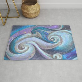 Swirl (blue and purple) Rug