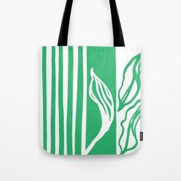 Long Leaf Stripe green Tote Bag