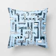 Which Way To The Bathroom? Throw Pillow