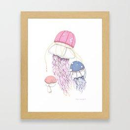 Jelly Shrooms Framed Art Print