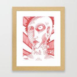 Tak for pølse (thanks for the sausage) Framed Art Print