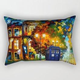 tardis  In a romantic evening Rectangular Pillow