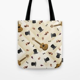 Guitar & Hats Tote Bag