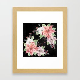 Poinsettia Framed Art Print