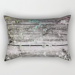 Planks and leaves Rectangular Pillow