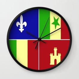 Louisiana Creole Heritage Wall Clock