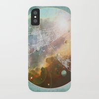 outer space iPhone & iPod Cases featuring Outer Space by Katie Micks