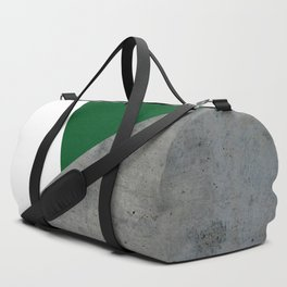 Concrete Festive Green White Duffle Bag