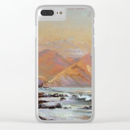 Evening by the sea Clear iPhone Case