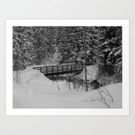 Snowshoe Bridge Art Print