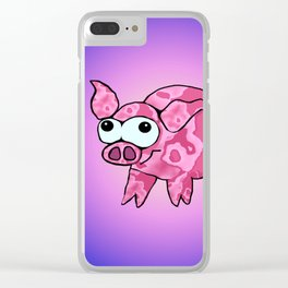 Little crazy pig Clear iPhone Case