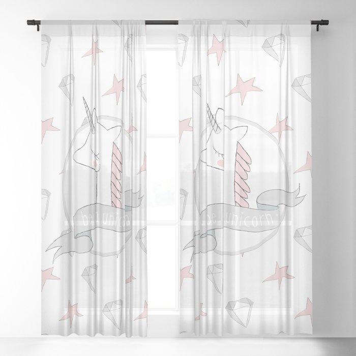 Be a Unicorn Sheer Curtain