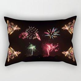 Firework Frenzy Rectangular Pillow