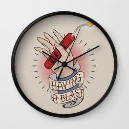 Having a Blast Wall Clock