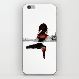 Blood Woman in The City iPhone Skin