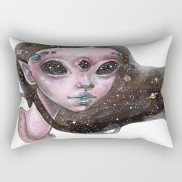 Galactic Girl Rectangular Pillow