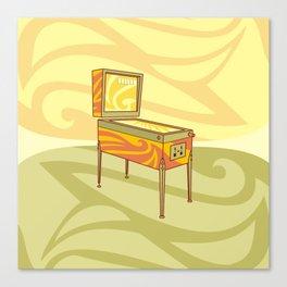 Retro games pinball machine Canvas Print