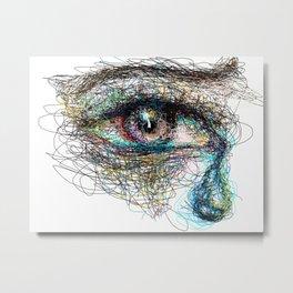 Eye Tear Metal Print