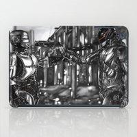 robocop iPad Cases featuring Robocop 1987 v 2014 by Jamie Briggs