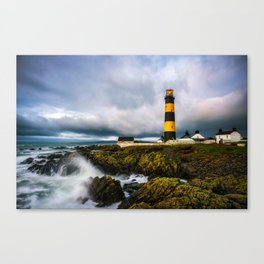 St. John's Point Lighthouse - Print  County Down, Northern Ireland.(RR 265) Canvas Print
