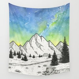 Mountain Skies Wall Tapestry