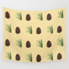 Pine cone pattern Wall Tapestry
