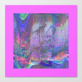 13-47-23 (rainbow haze glitch plus pink border) Canvas Print