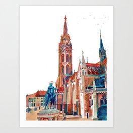 Matyas-templom Budapest Art Print