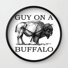 Guy on a Buffalo Wall Clock