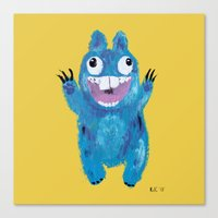 kevin russ Canvas Prints featuring Kevin by Kristina Joy Collins