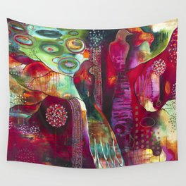 """True Nature"" Original Painting by Flora Bowley Wall Tapestry"