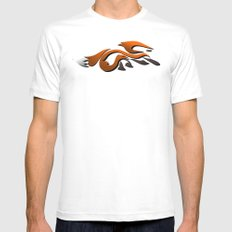 Graffiti Fox MEDIUM White Mens Fitted Tee