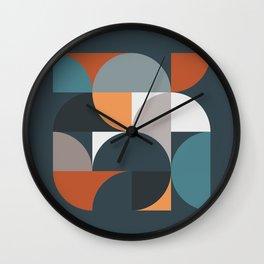 Mid Century Geometric 11/2 Wall Clock