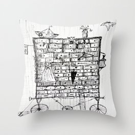 chest of drawers transport Throw Pillow