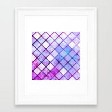 Purple Tiled Geometric Design Framed Art Print