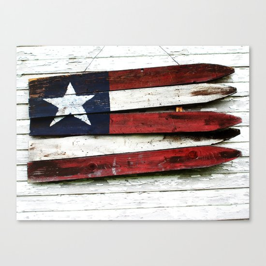 The Grand Ol' Wooden Flag Canvas Print
