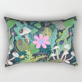 Beetle Pattern Rectangular Pillow